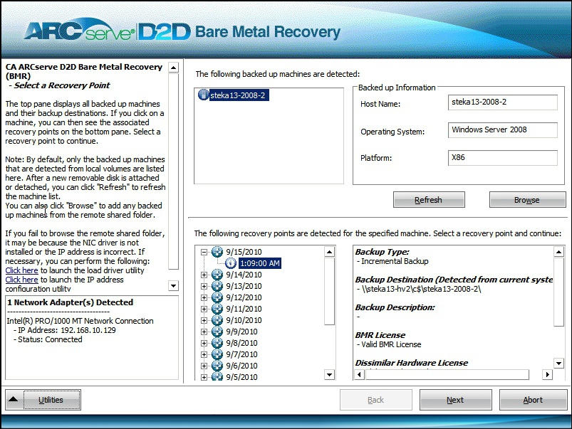CA ARCserve Bare Metal Recovery (1 cd)